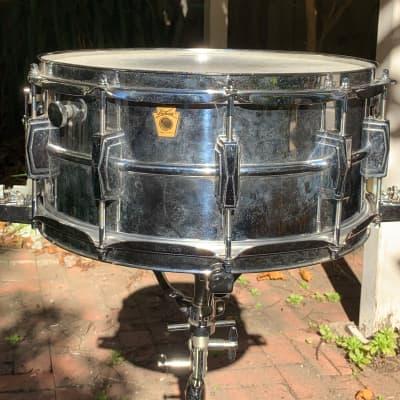 Ludwig 6 1/2 x14 Super Sensitive keystone  1969 Chrome