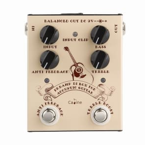 Caline CP-40 PRE-AMP DI Box with Anti Feedback control for Acoustic Guitars True Bypass