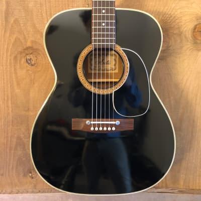 Arita (Aria) F-20BLK MIJ Acoustic Guitar Black w/ Case Japan for sale