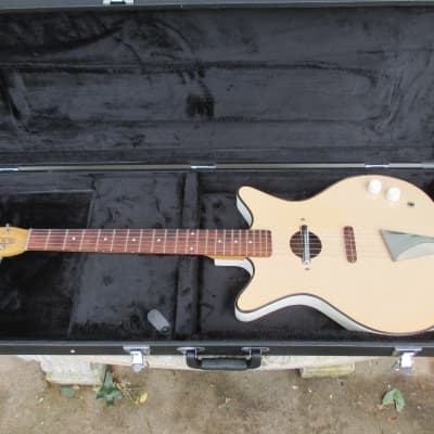 Mid 60's Danelectro Convertible White Electric Acoustic Guitar