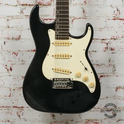 Samick Greg Bennett Strat Electric Guitar Black x8757 (USED) for sale