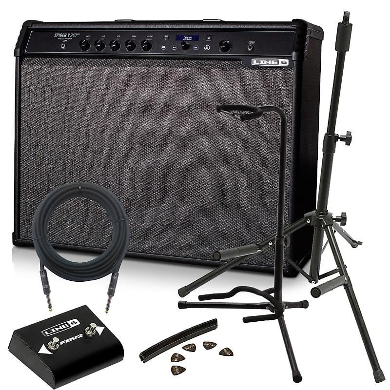 Line 6 Spider V 240 MkII Guitar Amplifier - Stage Essentials Bundle