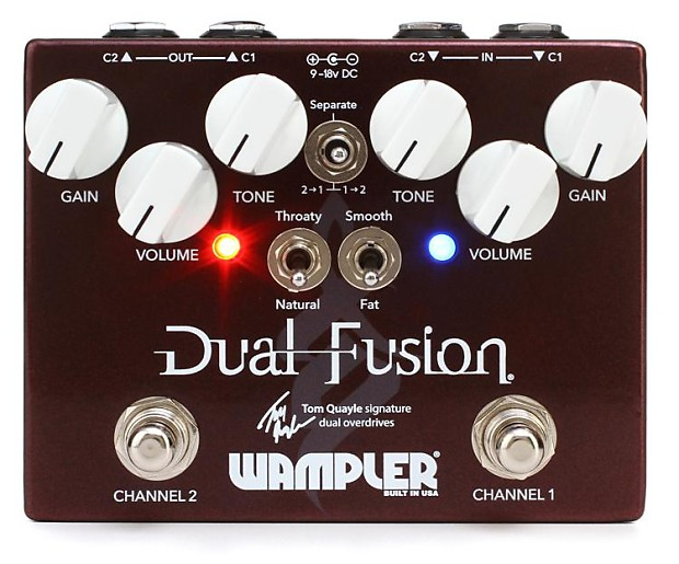 wampler tom quayle dual fusion overdrive pedal gearnuts reverb. Black Bedroom Furniture Sets. Home Design Ideas
