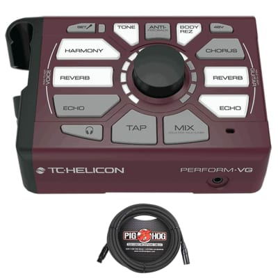 TC Helicon Perform-VG Vocal Acoustic Guitar USB Processor + 20' XLR Mic Cable image