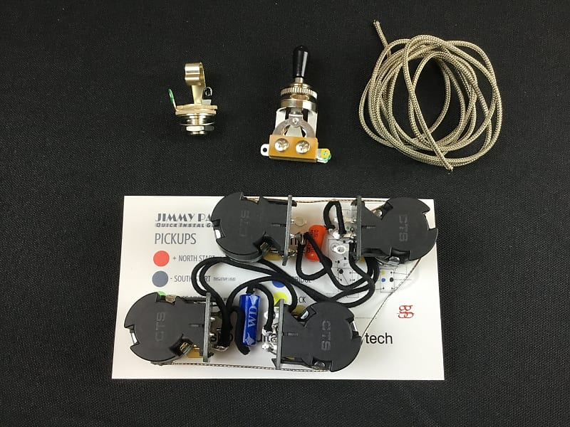 Ultimate Les Paul Jimmy Page Wiring Push