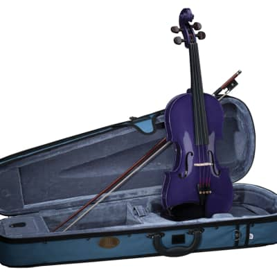 Stentor Harlequin Series 3/4 Size Violin Outfit with Case - Deep Purple