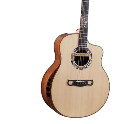 Merida Extrema Poison cutaway solid Spruce/Rosewood Acoustic electric guitar for sale