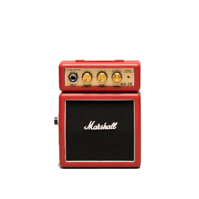 Marshall MS-2R 1W Battery-Powered Red Micro Guitar Amp