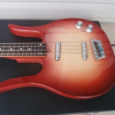 Vintage 1960's Meazzi Dynelectron Longhorn Bass Guitar w/ Case! Fretless, Rare Danelectro Copy! for sale