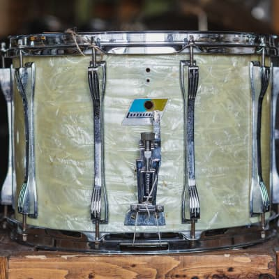 Ludwig 1970 Marching Snare in White Marine Pearl - 10x14