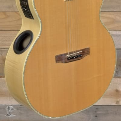 Boulder Creek ERJ7-N Acoustic/Electric Guitar Natural w/ Gigbag for sale