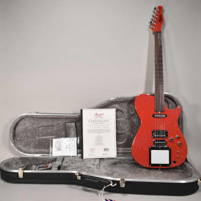 NEW Manson MB-1 Santa 2.0 Electric Guitar Red Glitter MIDI Screen w/OHSC for sale