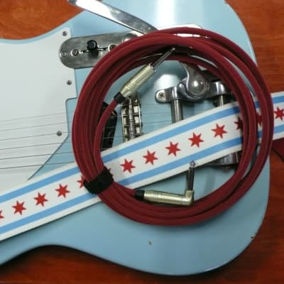 """Alchemy Audio Whisper Guitar Instrument Cable Red 15 Foot 1/4"""" Straight Right"""