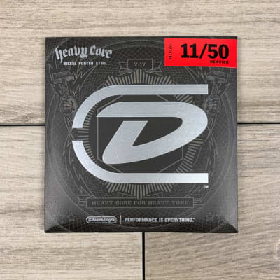 Dunlop Heavy Core Nickel Wound Electric Guitar Strings, 11-50, 11's Heavier