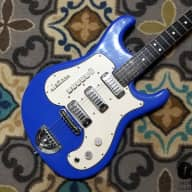 RARE Dega Morbidoni Diamond Wildcat Italian-made Electric Guitar (1963, Electric Blue) for sale