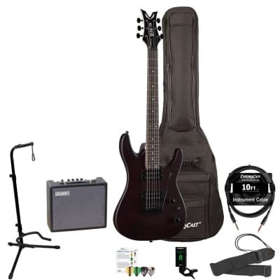 Dean Vendetta XM Tremolo Satin Natural Electric Guitar with 10-Watt Amp, Padded Gig Bag, Clip-On Tuner, Stand, Strap, Picks, Cable & Online Lesson for sale