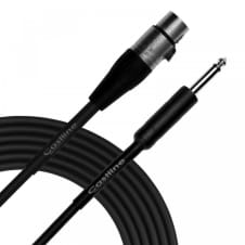 """1 Ft Castline Silver XLR female to 1/4"""" TS Patch Cable Mogami 2792 image"""