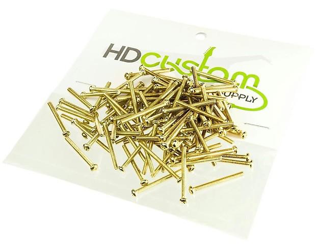 humbucker pickup height adjustment screws gold package of reverb. Black Bedroom Furniture Sets. Home Design Ideas