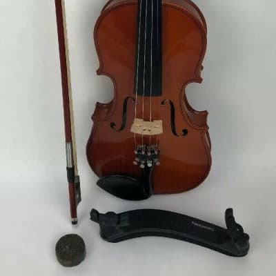 Rare Cremona Student Violin with Bow, Case & Table Protector - Model SV 50 1/2