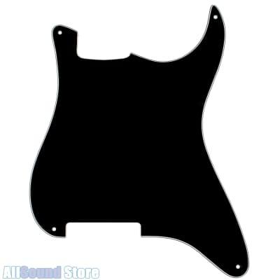 NEW - BLANK Pickguard for Fender® Stratocaster Strat + Foil Shielding - 3-Ply BLACK