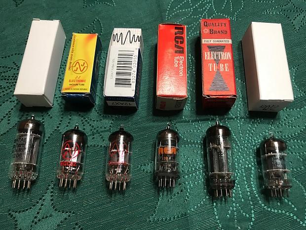 6 tubes - 12BH7AEH, 12BH7A, 12AT7, 12AU7, 12AV7, 12AX7