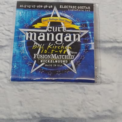 Curt Mangan Bill Kirchen Signature Set Fusion Matched Nickel Wound 10.5-48 Electric Guitar Strings