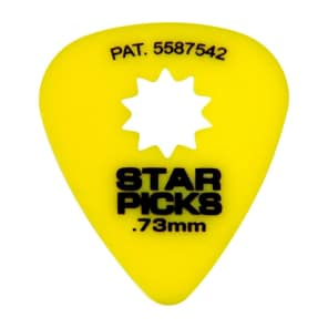 Everly Music 30023 Star Picks 351 Shape Delrin Guitar Picks - .73mm (12-Pack)