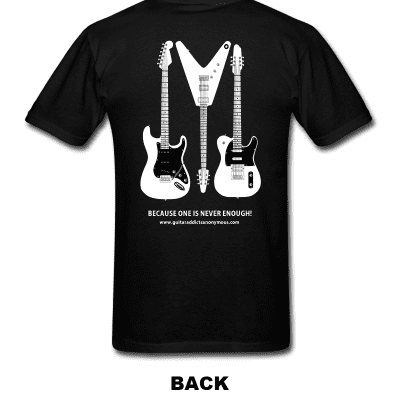 "G.A.A. Members Guitar T Shirt ""One Is Never Enough"" Size L"