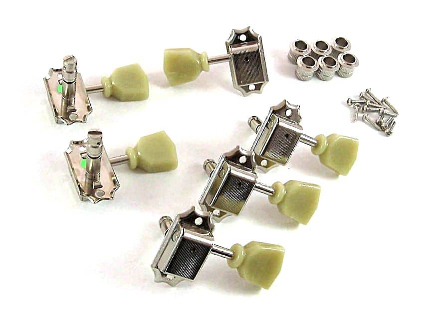 Gotoh Sd90 Mg Vintage Locking 3x3 Deluxe Nickel Tuners For