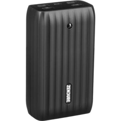 Zendure X6 20100mAh Power Bank and USB Hub with 45W Power Delivery and Quick Charge, Black