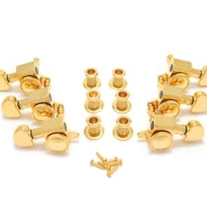 Grover Mini Roto Grip Locking Rotomatics, Set of 6 (3+3), 18:1 Ratio, Gold, 505G for sale