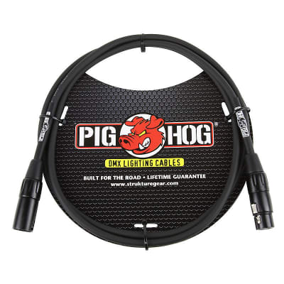Pig Hog PHDMX5 3-Pin DMX Lighting Cable - 5', Ships FREE lower 48 States!