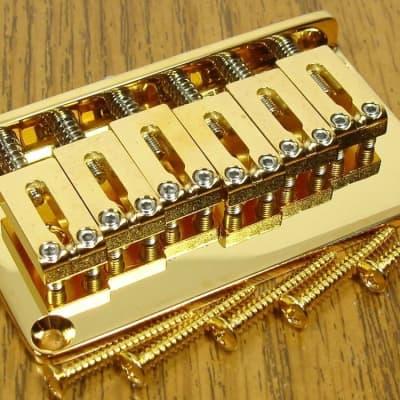 NEW Gotoh Strat Tele Hardtail GOLD BRIDGE for Fender Guitar Parts SB-5115-002