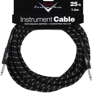 Fender Fender Custom Shop Cable, 25', Black for sale
