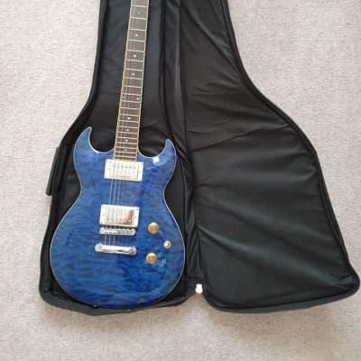 Samick Greg Bennett Torino TR3 Blue Quilt for sale