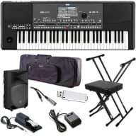 Korg Pa600QT Quarter Tone Professional Arranger Keyboard COMPLETE STAGE BUNDLE