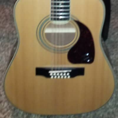 Epiphone DR-212 12-String Acoustic Guitar Natural with hardshell case 2020