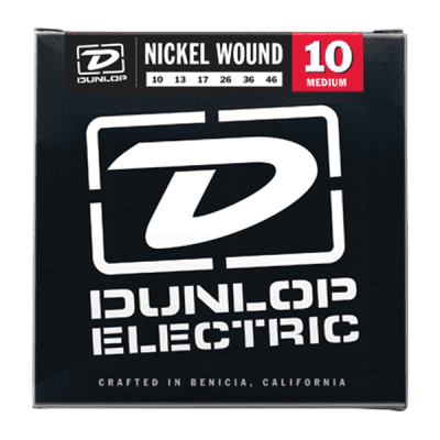 Dunlop DEN1046 Medium Nickel Wound Electric Guitar Strings 10-46