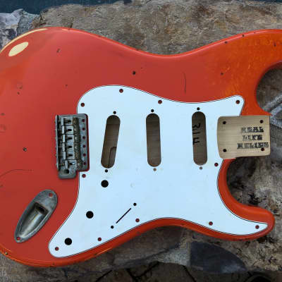 Real Life Relics Strat Stratocaster Body Clementine Orange Aged