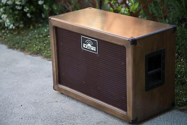 Blacktone 2x12 guitar speaker cabinet 150watts 16ohms Walnut