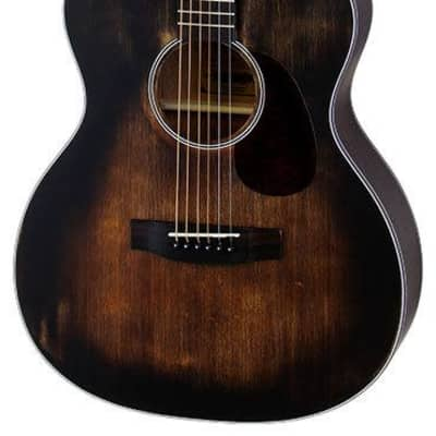Aria Delta Players Series OM Acoustic Guitar in Muddy Brown Finish for sale
