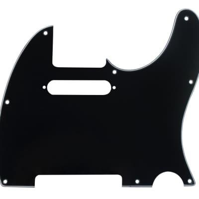 920D Custom 8-Hole Precision CNC Cut T Style Pickguard, 3-Ply Black