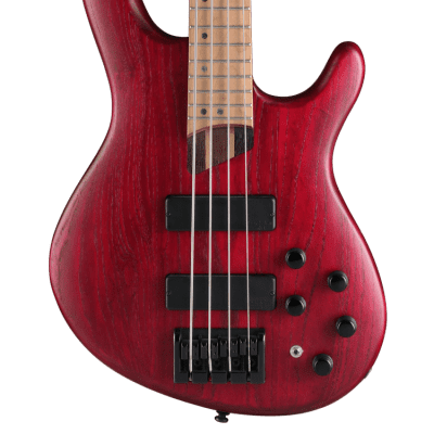 Cort B4 Plus AS RM Open Pore Burgundy Red