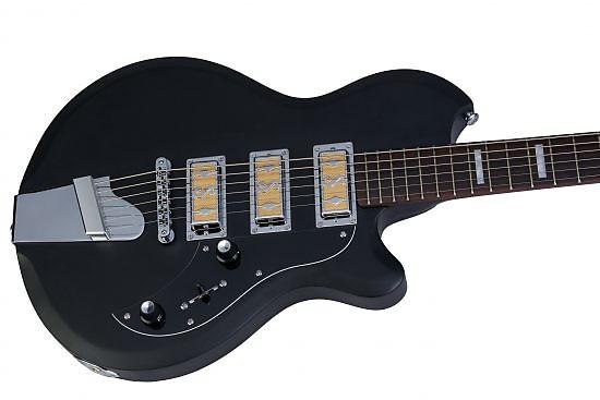 supro 2032fb hampton baritone guitar flat black new free reverb. Black Bedroom Furniture Sets. Home Design Ideas