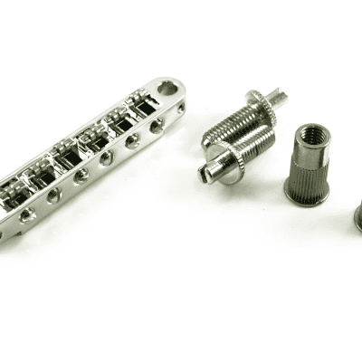 TonePros TPFR-C Metric Locking Tune-O-Matic Bridge with Roller Saddles