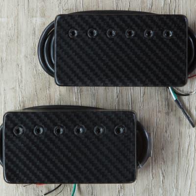 Bare Knuckle Ragnarok 6-String Calibrated Humbucker Set Black Covers Etch Carbon Fiber