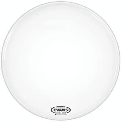 "Evans BD20RGCW-NP EQ3 Resonant Coated White Bass Drum Head - 20"" (No Port)"