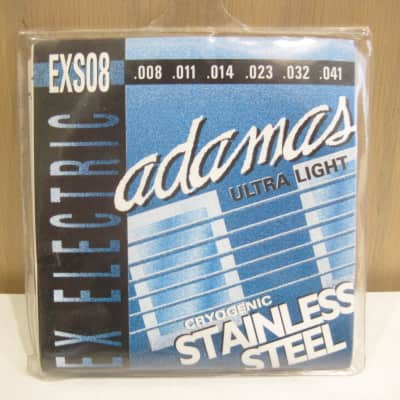 Adamas EXS08 Cryogenic Stainless Steel Ultra Light 8-41 Electric Guitar Strings for sale