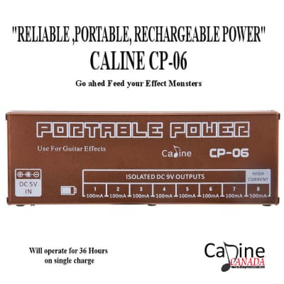 Caline CP 06 Portable Rechargeable 9V Power Supply 4 Effects Stomp Pedals Free Shipping