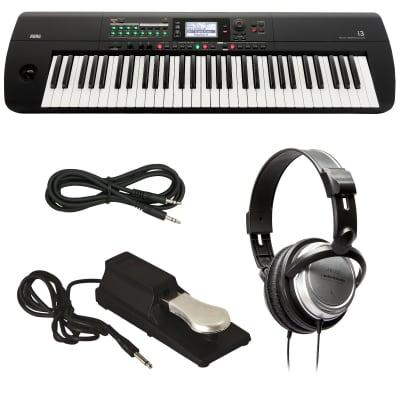 KORG i3 Music Workstation - Matte Black - Bonus Pak